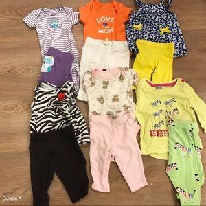 52 pieces Spring/Summer bundle (sizes: newborn-3m)